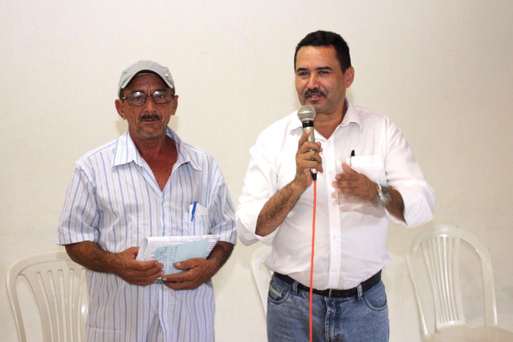 O deputado foi recepcionado pelo ex-presidente e atual suplente da Secretaria de Política Agrícola da entidade, Raimundo Pires.