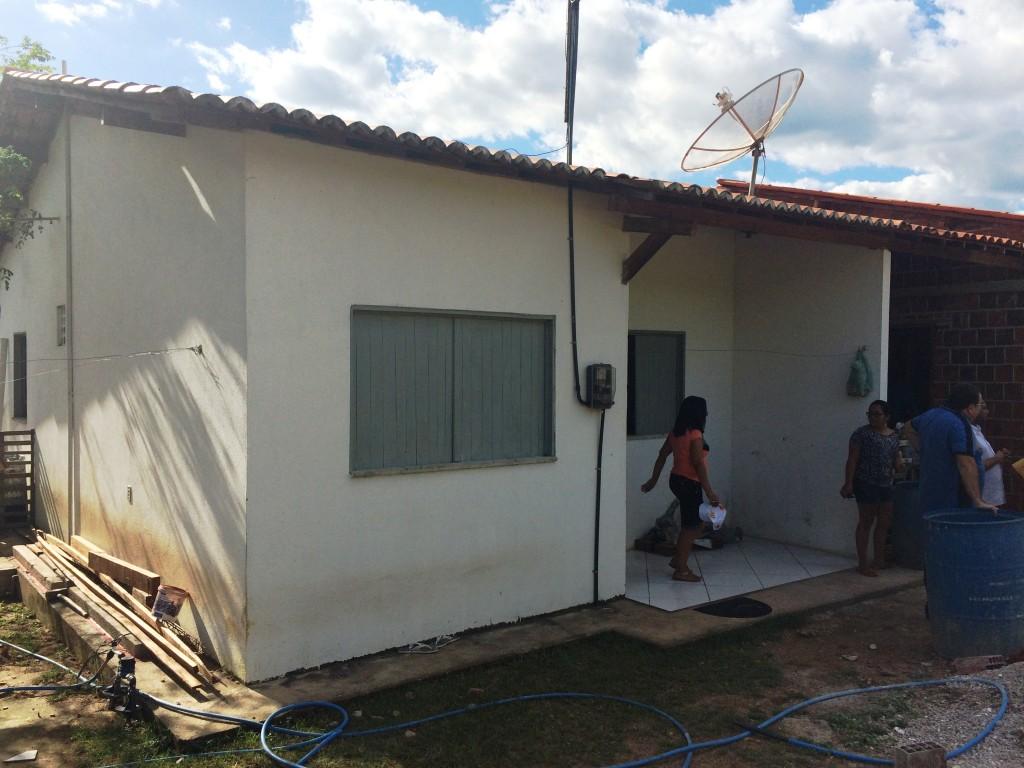 Casa construída através do PNHR do Governo Federal