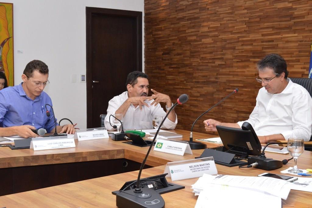 Moisés Braz participa de audiência da Fetraece com o governador Camilo Santana Foto: Janes P. Souza